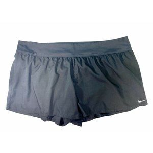 Nike Women's Running Shorts with Built In Briefs Black Plus Size 3X EUC